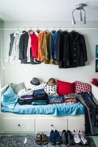 Minu riidekapi sisu pärast postituse kirjutamist ning ülevaatuse tegemist (Foto: Ivo Krustok)