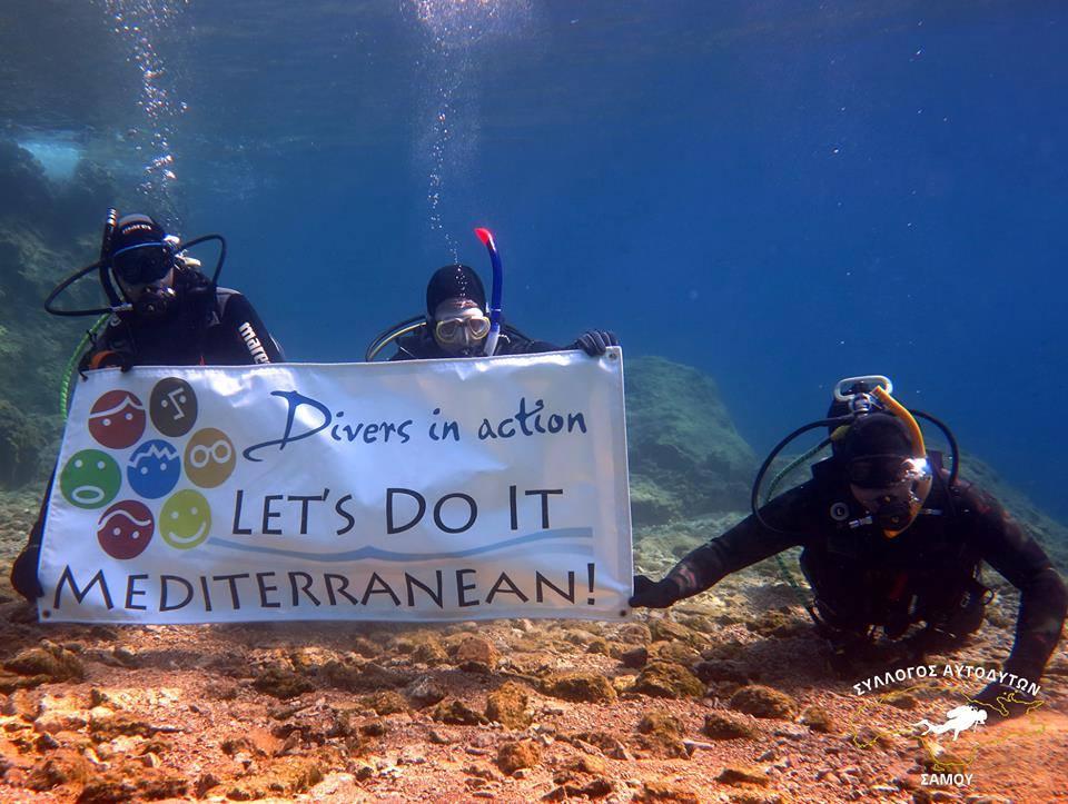 """LDIM tegutseb tihedas koostöös sukeldujatega. Pildil Kreeka Samose saare sukeldujad klubist """"Samos Divers"""""""