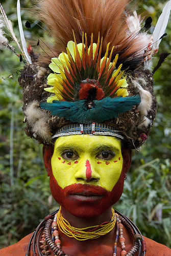 Papua New Guinea, PNG, painted faces native people